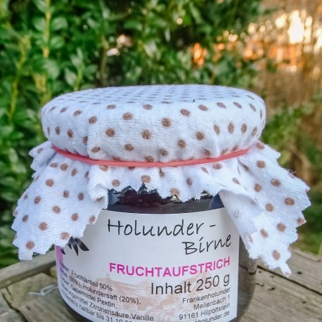 Holunder-Fruchtaufstrich mit Birne
