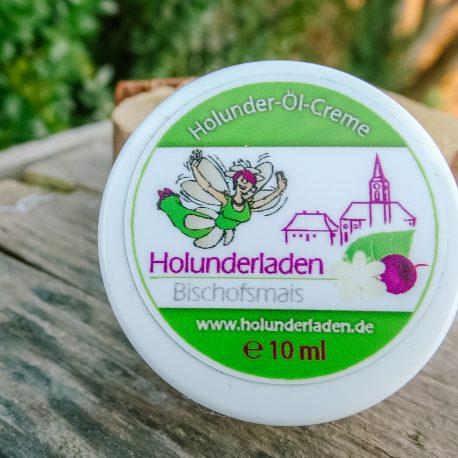 Natürliche Creme aus Holunderöl