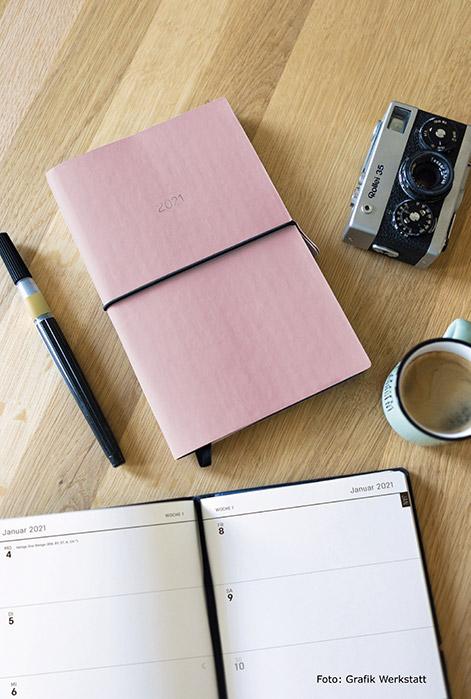 Stylischer Terminplaner als Geschenkidee für gut Organisierte oder die, die es werden wollen