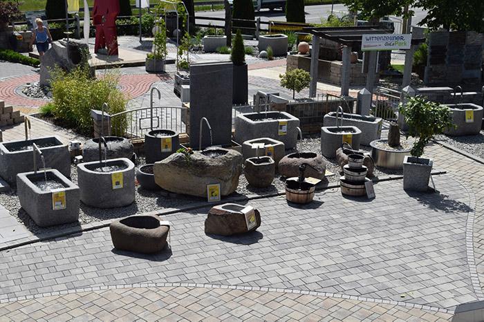 Granitbrunnen für den Garten