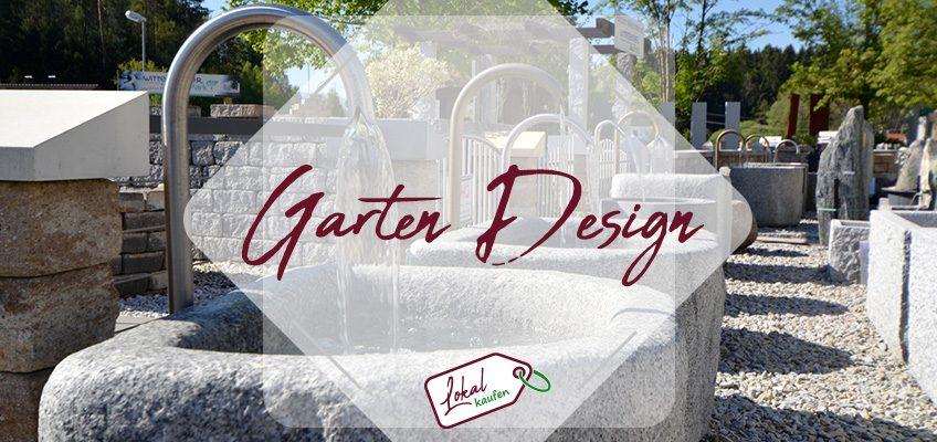 Gartendesign mit Schieferplatten und Granit