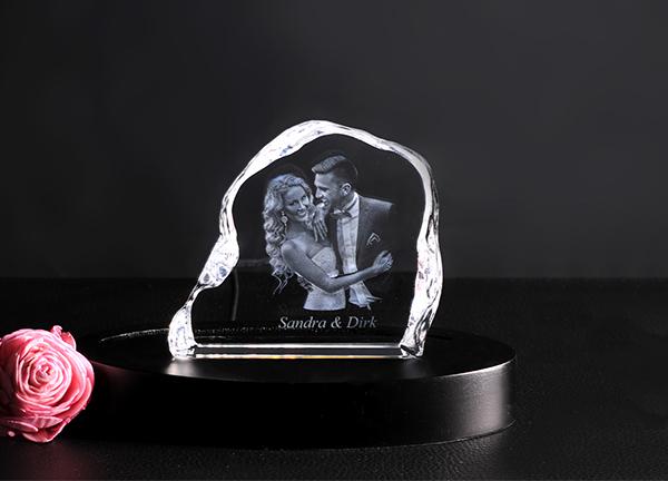 3D Glasblock Rock mit eigenem Foto