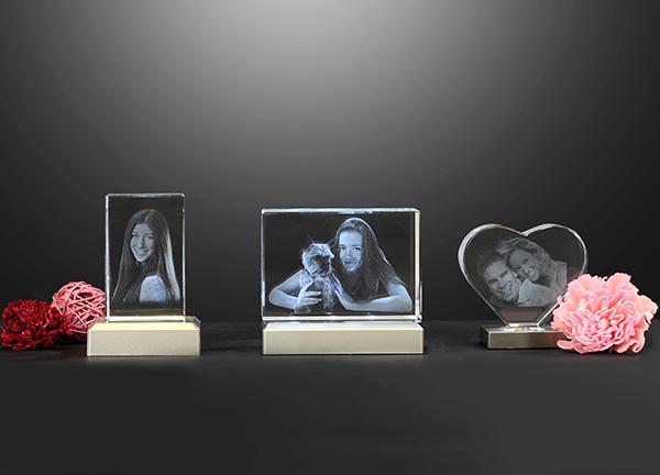 3D Glasblock mit eigenem Foto