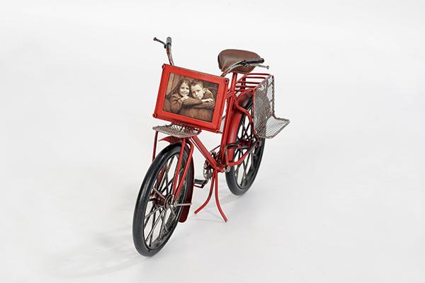 Fahrrad rot mit Foto