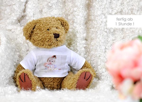 Kuscheltier Teddybär groß mit eigenem Foto