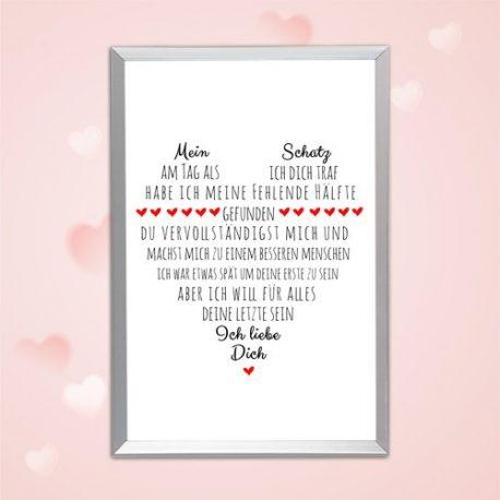 Liebeserklärung-Poster für Ihn