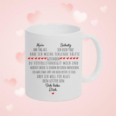 Liebeserklärung – Tasse für Sie